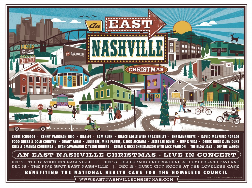 Album and Concert Poster Art for An East Nashville Christmas